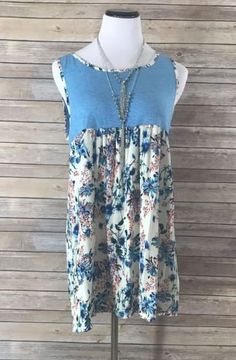 *SALE ITEM* This About that Floral blue floral tank top is perfect for Spring! Super soft material & oh so comfortable! Boutique Clothing, Fashion Boutique, Floral Tank Top, Summer Dresses, Tank Tops, Blue, Shopping, Clothes, Women
