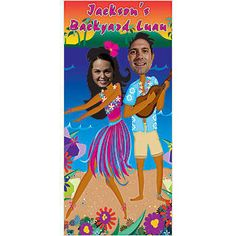 Our Hula Couple Stand-In makes a great, goofy photo op for your Hawaiian luau.