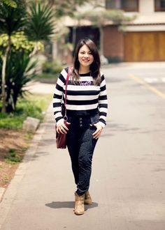 Pinkadicta: El sweatshirt rayado