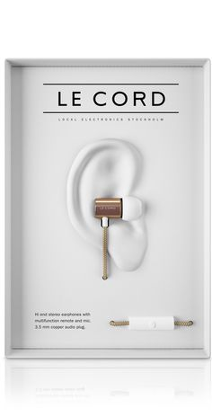 Le Cord GLD01 – Earphones iPhone charge & sync cable wrapped in textile