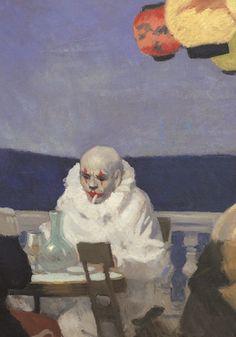 Edward Hopper - Soir Bleu, detail - 1914 - Whitney Museum of American Art Bel Art, Tableaux Vivants, Arte Obscura, Weird Art, Renaissance Art, Psychedelic Art, Pretty Art, Surreal Art, Clowns