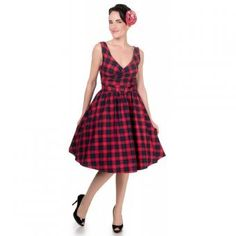 "Dolly & Dotty swing dress ""May Red Blue Tartan"", sizes 10 - 16, 49 EUR."