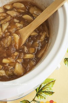 Ann's Slow Cooker Apple Pie Filling @ NancyC