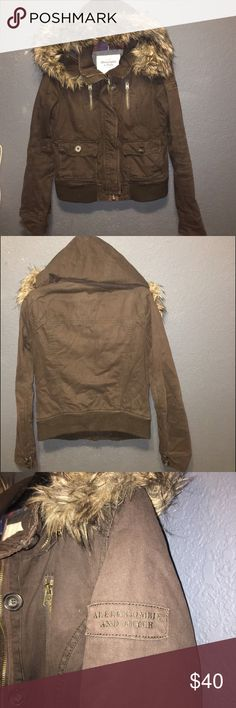 Abercrombie & Fitch Womens jacket (M) Great condition no flaws no stains no rips or fading... Womens jacket size Medium paid over $100 Abercrombie & Fitch Jackets & Coats