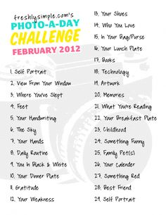 Photography Challenge - Improve your photography skills & creativity
