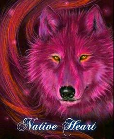 Bright Pink with Yellow Eyes Wolf Wolf Images, Wolf Photos, Wolf Pictures, Native American Wolf, American Indian Art, Galaxy Wolf, Wolf Artwork, Fantasy Wolf, Wolf Wallpaper