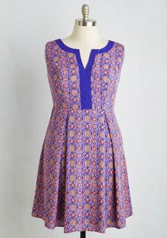 Pastry Tasting Dress. Explore an array of flavors as vibrant and original as your pleated A-line! #multi #modcloth