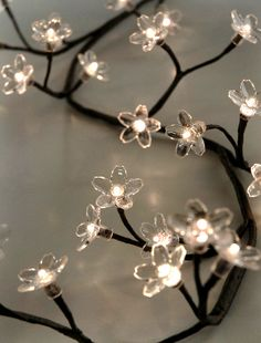 Crystal Flower Lighted LED Branches