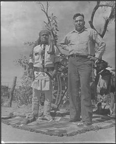 Shorty Delmar and his nephew - San Carlos Apache - 1935