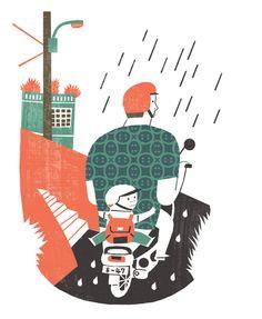 記憶藏寶圖/雨中背影   繽紛‧心情   閱讀藝文   聯合新聞網