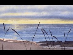 How to Paint a Waterscape (Sea and Beach) in Watercolor - Narrated - YouTube