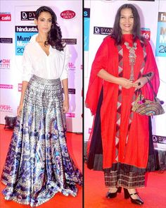 HT Style Awards - Shabana Azmi and Mughda Godse were in attendance.  Check Out Latest Fashion Trends Only On www.biscoot.com