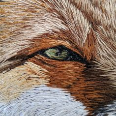 Embroidery Kits, Cross Stitch Embroidery, Fox Art, Christmas Embroidery, Punch Needle, Sewing Techniques, Felting, Paper Art, Needlework