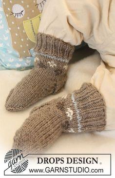 Dagens gratisoppskrift: First Snow Socks | Strikkeoppskrift.com
