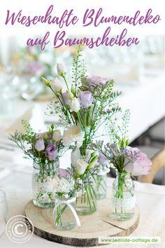 wedding arch Wiesenhafte Blumendeko auf B - wedding Baptism Table Decorations, Flower Decorations, Wedding Decorations, Dyi Flowers, Meadow Flowers, Diy Wedding Bouquet, Diy Wedding Flowers, Tree Wedding, Boho Wedding