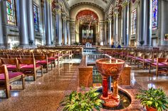 inside cathedral of st john the evangelist, downtown Milwaukee