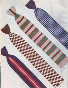 Crochet some ties with this vintage crochet pattern