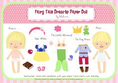 The Fairy Tale Dress-Up Paper Doll is my favorite!