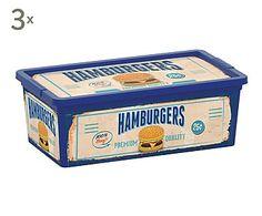 Set de 3 cajas de almacenamiento Fast Food - XS