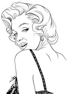 Marilyn Monroe drawing. Artist Unknown | This image first pinned to Marilyn Monroe Art board, here: http://pinterest.com/fairbanksgrafix/marilyn-monroe-art/ || #Art #MarilynMonroe