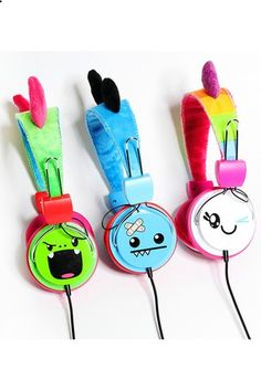 kawaii and cute products or gadgets Adorable and practical products SoSo Happy Plush Headphones (Ozzie-Blue Pair)http://sosohappystore.com/products/ozzie-headphones