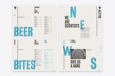 Daily Draft menu for Brewdog designed by O Street, United Kingdom.