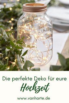 Wunderschöne Lichterkette als Hochzeitsdeko Tisch Roségold deko Hochzeit Rosegold deko Hochzeit Ideen Inspiration van harte