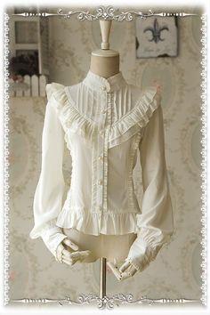 Infanta Moon's Elegy Chiffon Shirt $49.99-Lace Shirts - Lolita Clothes - My Lolita Dress