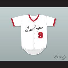 "Smash Diggins 9 Springfield Isotopes Baseball Jersey. STITCH SEWN GRAPHICS  CUSTOM BACK NAME CUSTOM BACK NUMBER ALL SIZES AVAILABLE SHIPPING TIME 3-5 WEEKS WITH ONLINE TRACKING NUMBER Be sure to compare your measurements with a jersey that already fits you. Please consider ordering a larger size, if you prefer a loose fit.  HOW TO CALCULATE CHEST SIZE: Width of your Chest plus Width of your Back plus 4 to 6 inches to account for space for a loose fit. Example: 18"" wide chest plus 18"" wide…"