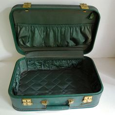 Vintage Luggage Starline Suitcase Small Teal by CalloohCallay, $54.00