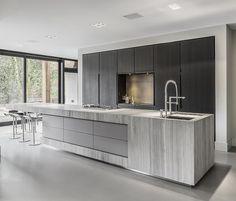 31 veces he visto estas buenas cocinas abiertas. Open Plan Kitchen Living Room, Home Decor Kitchen, New Kitchen, Home Kitchens, Modern Kitchens, Italian Kitchens, Kitchen Ideas, Modern Kitchen Cabinets, Modern Kitchen Design