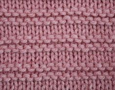 New knitting stitches stripes 64 ideas Baby Knitting Patterns, Loom Patterns, Loom Knitting, Stitch Patterns, Knit Purl Stitches, Knit Dishcloth, Knitted Baby Blankets, How To Purl Knit, Garter Stitch