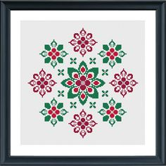 Modern geometric cross stitch pattern flower ornament christmas The pattern comes as a PDF file that youll will be able to download immediately after purchase. In addition the PDF files are available in you Etsy account, under My Account and then Purchase after payment has been cleared.