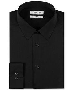 Calvin Klein STEEL Non-Iron Slim-Fit Solid Performance Dress Shirt - Dress Shirts - Men - Macy's