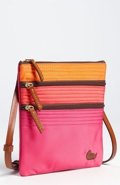Dooney & Bourke Triple Zip Crossbody Bag. want these colors... summer, but cant find anywhere...