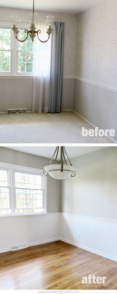 Dining Room | Before & After | DIY | Neutral | Tan | White | Remodel | www.somethingneutral.com