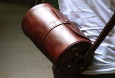 Genuine Leather Mens Chest Bag Cool Sling Bag Messenger Bag Bike Bag Cycling Bag For Men