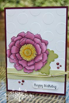 Stampin'spiration: Final Blended Bloom Card