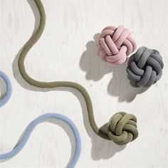 Buy Knot Cushion from Design House Stockholm. Knot cushion is made from a knitted tube, several metres in length, which is tied up to create a compact k. Diy Pillows, Sofa Pillows, Decorative Pillows, Knot Cushion, Knot Pillow, Sofa Design, Pillow Design, Interior Design, Design House Stockholm