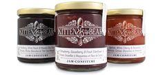 Kitten & the Bear jam packaging design