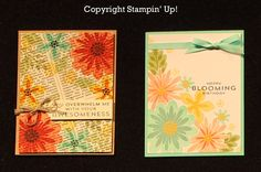 Double the Flower Patch - Love these cards created with the Flower Patch Stamp Set!