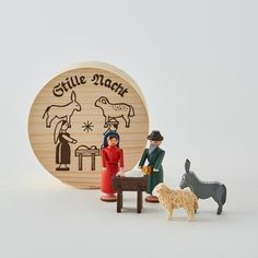 Wooden Christmas Nativity Set - Trouva