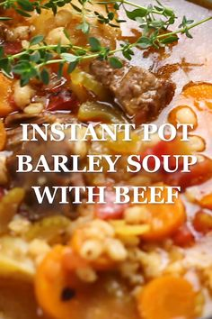 Instant Pot Recipes 35958497012130020 - This classic healthy Instant Pot Barley Soup is loaded with nutritious vegetables, tender beef, and barley. It's an easy comforting winter soup recipe made in one pot! Source by veronikaskitche Beef Soup Recipes, Cooking Recipes, Healthy Recipes, Crockpot Recipes, Healthy Soup, Instapot Soup Recipes, Vegetarian Soup, Roast Recipes, Slow Cooking