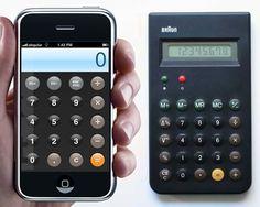 IPhone's Design Tribute to a 1977 Braun Calculator