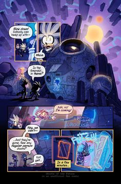 """Ghosts of the Future, Issue 17 Page 6! That's not a regular person door. Okida : """"It was the best of times, it was the worst of times, it was the age of wisdom, it was the age of foolishness, it wa..."""