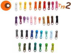 Reißverschlüsse - 10 Zipper - Typ 2 - ein Designerstück von NI-KO bei DaWanda