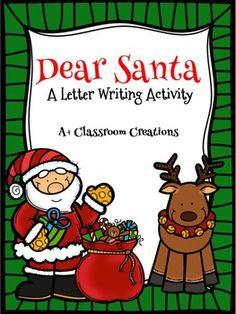 Dear Santa:  A Letter Writing Activity {FREEBIE}