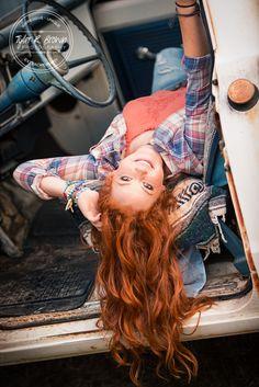 Madi Meyers - Senior Portraits - Lone Star High School - Old Truck - Redhead - Country - Senior Pictures - @neeneestiles - Luscombe Farms - Stunning - Senior Model Rep - Fall - Texas - #seniorportraits - Class of 2016 - #seniorpics - Tyler R. Brown Photography