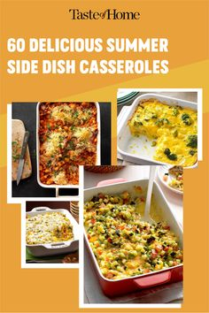 Think beyond salads and grilled veggies: these delicious casseroles make superb summer side dishes! Use your summer vegetables and make an outstanding side for your next big meal. Grilled Side Dishes, Summer Side Dishes, Grilled Veggies, Big Meals, Fresh Fruits And Vegetables, Casserole Dishes, Summer Recipes, Casseroles, Salads