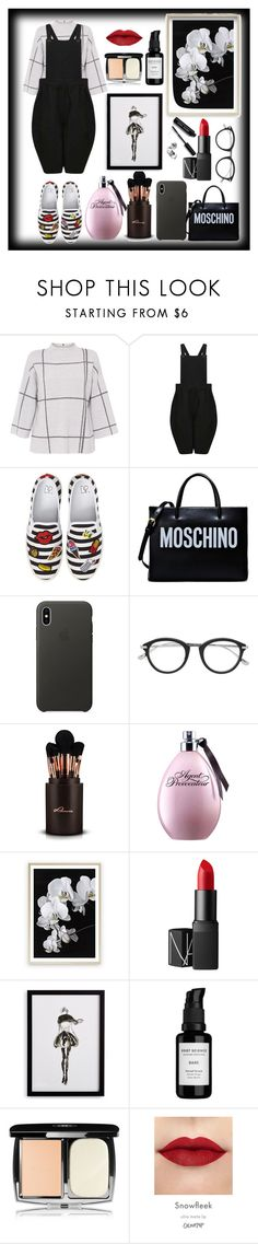 """""""60"""" by santyfebrina-nasution ❤ liked on Polyvore featuring L.K.Bennett, Comme des Garçons, BP., Moschino, Apple, Tom Ford, NARS Cosmetics, Frontgate, Root Science and David Jones"""